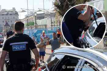 Police smash car window as dogs left in sweltering heat in Madeira Drive, Brighton