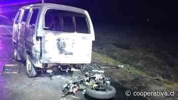Motociclista falleció tras chocar con un furgón en Lampa - Cooperativa.cl