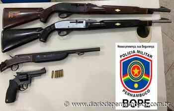 Homem é preso com armas de fogo em Ipojuca - Diário de Pernambuco