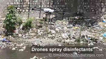 Dehradun: Municipal corporation uses drones to spray disinfectants
