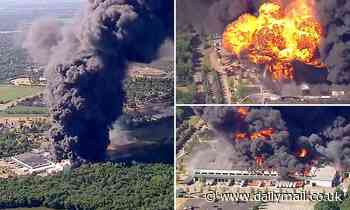Huge explosion destroys Illinois chemical plant filled which manufactures flammable fluids