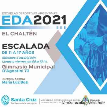 Inscripción en El Calafate y El Chalten de las Escuelas Deportivas Argentina - FM Dimensión - El Calafate