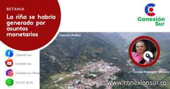 Homicidio con arma blanca en la vereda Palenque, Betania - ConexionSur