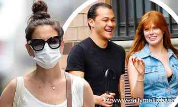 Katie Holmes steps out after A-Rod was spotted leaving her apartment building