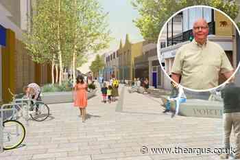 Worthing's Portland Road regeneration construction begins