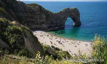 Woman falls 150ft to her death as she climbed down to the beach at Durdle Door in Dorset