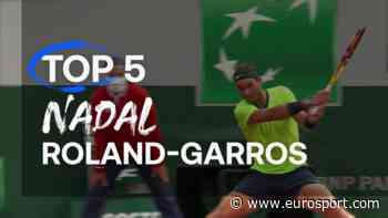 French Open tennis - Top 5: The best shots from Rafael Nadal after falling short in 14th title pursuit - Eurosport COM