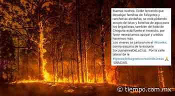 Desalojan comunidades en San Juanito por incendio forestal, denuncian - El Tiempo de México