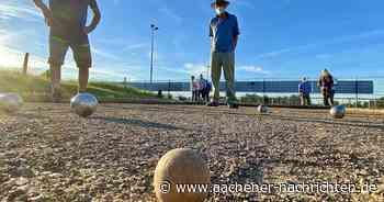 Neue Boule-Anlage: In Roetgen wird nun das Schweinchen gejagt - Aachener Nachrichten
