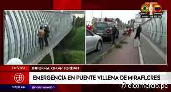 Miraflores: joven fue salvado de caer desde el Puente Villena - El Comercio Perú