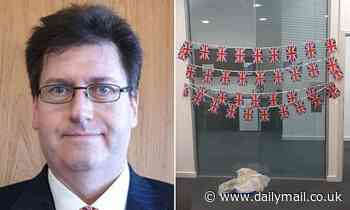 Council's law chief demands Tories take down the Union Jacks they decorated their office with