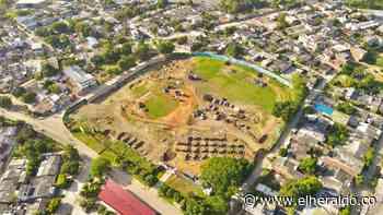 Reportan buen avance en la construcción del estadio de Béisbol de Sincelejo - EL HERALDO