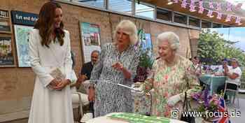 Queen soll bei Empfang Kuchen anschneiden und greift plötzlich zum Säbel - FOCUS Online
