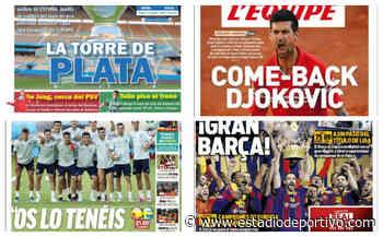 Sevilla recibe a la Roja, la Euro, De Jong, Tello... Así vienen las portadas del lunes - estadiodeportivo.com