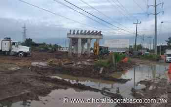 [Galería] Avanza 26% obras del distribuidor vial Guayabal - El Heraldo de Tabasco