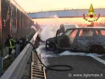 Assalto a un portavalori sull'A1: fiamme e chiodi sulla carreggiata