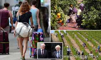 Australia United Kingdom Boris Johnson Scott Morrison trade agreement farm work to extend visas