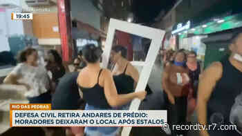 Moradores de prédio em Rio das Pedras deixam local após estalos - Record TV