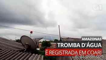 VÍDEO: Tromba d'água assusta moradores em Coari - G1