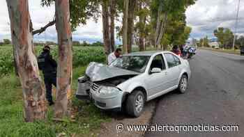 Automóvil se impactó contra un árbol en la San Juan-Tequisquiapan - Queretaro