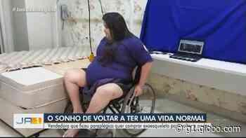 Goiana que morava na França e ficou paraplégica pede ajuda para comprar equipamento para tentar voltar a andar - G1