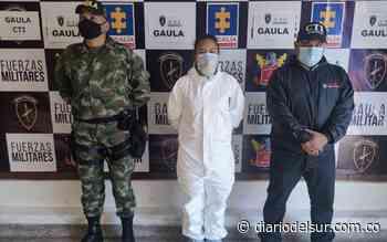 Ejército Nacional capturó extorsionista en el municipio de Soacha - Diario del Sur