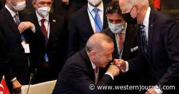 Biden Gives Turkish Pres Mistimed Awkward Fist Bump, Gets Long-Lasting Arm Stroke in Return