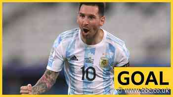 Copa America: Lionel Messi scores stunning free-kick for Argentina against Chile