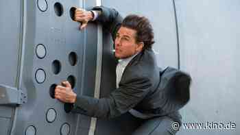"""Neues """"Mission: Impossible 7""""-Bild: Tom Cruise schwebt bei Zug-Stunt in Lebensgefahr - KINO.DE"""