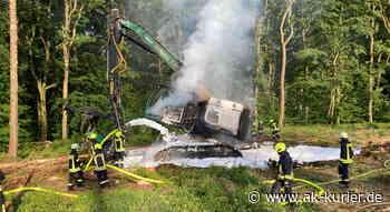 Forstmaschine brannte im Wald bei Windeck-Halscheid - AK-Kurier - Internetzeitung für den Kreis Altenkirchen