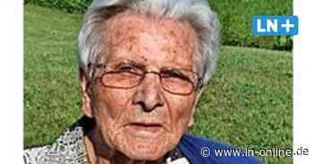 Irmgard Morgenroth aus Ratzeburg wird 100 Jahre alt - Lübecker Nachrichten