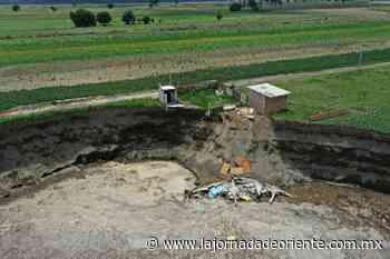 Pagará el gobierno construcción de casa afectada por socavón en Zacatepec: Barbosa - Puebla - - La Jornada de Oriente