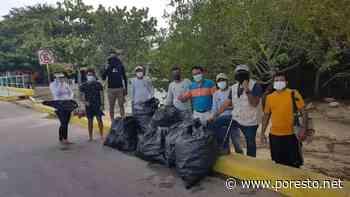 Recolectan 200 kilos de basura en la Reserva Estatal 'Santuario del Manatí' en Chetumal - Por Esto