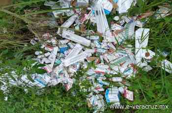 Abandonan 7 mil medicamentos en predio de El Castillo, en Xalapa - e-veracruz