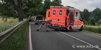Medizinischer Notfall: Sechs Fahrzeuge nach Unfall auf B 8 bei Hennef demoliert - Kölner Stadt-Anzeiger