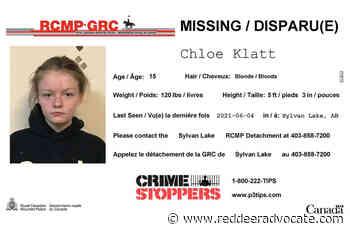 Located: Sylvan Lake RCMP looking for missing girl – Red Deer Advocate - Red Deer Advocate