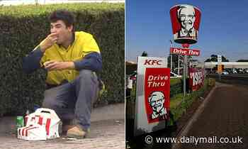 Tradie eats KFC and drinks beer on side of road after causing accident in Adelaide