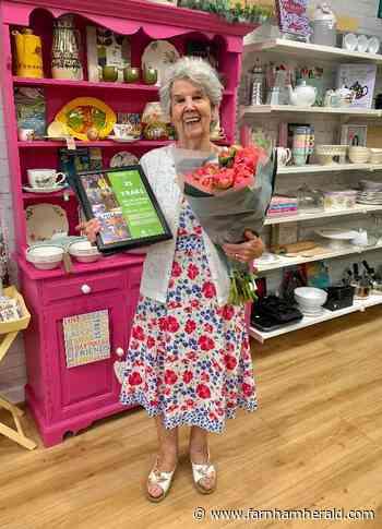 Betty celebrates 25 years at Oxfam | News - Farnham Herald