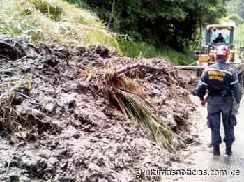 Lluvias obstruyen vías de Bailadores en el estado Mérida - Últimas Noticias