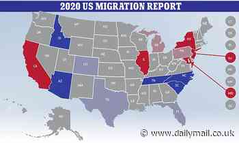 Americans flee liberal coastal cities in New York California in favor of red states Arizona, Idaho