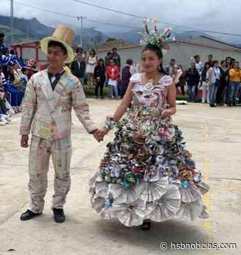 Niños deleitaron con sus trajes ecológicos en Yacuanquer - HSB Noticias