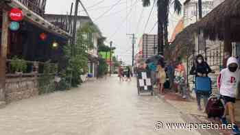 Lluvias en Holbox convierten a la isla en una Venecia tropical - PorEsto