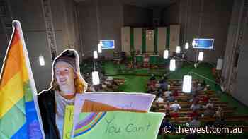Geraldton Anglican Cathedral event draws protest - The West Australian
