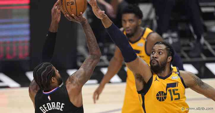 Utah Jazz-LA Clippers buzz: Jerry West next to the logo, Kawhi Leonard hurts knee, Clippers swarm against Derrick Favors