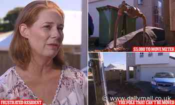 Birkdale, Brisbane: Family stuck with power pole in driveway for a YEAR while council argue