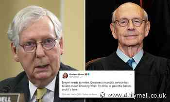 Liberals push for Justice Stephen Breyer to resign from the Supreme Court amid McConnell statements