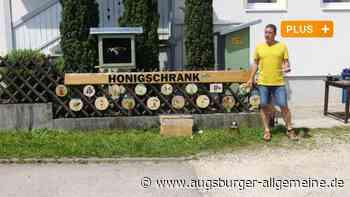 In Biberberg informiert ein Schaukasten über das Leben der Bienen