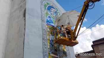 Santa María del Páramo se engalana a base de arte urbano - La bañeza