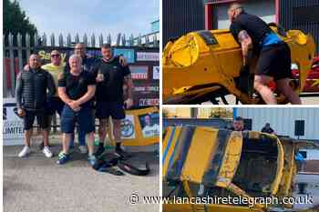 Boxer raises £7,243 for charities after gruelling car-flip challenge
