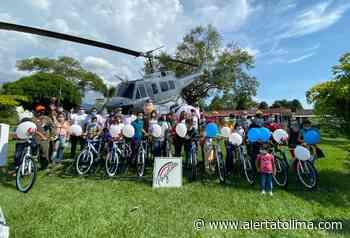 CACOM-4 y 'PAZicletas' llevan alegría y esperanza, sobre ruedas, a los niños de Icononzo - Alerta Tolima